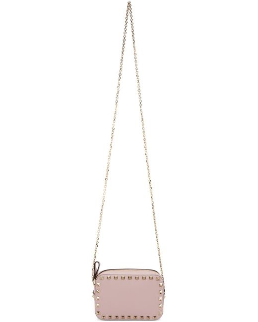 Valentino   Pink Rockstud Camera Bag   Lyst