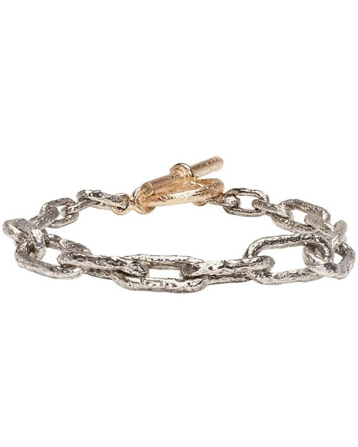 Pearls Before Swine | Metallic Silver & Gold Link Bracelet | Lyst