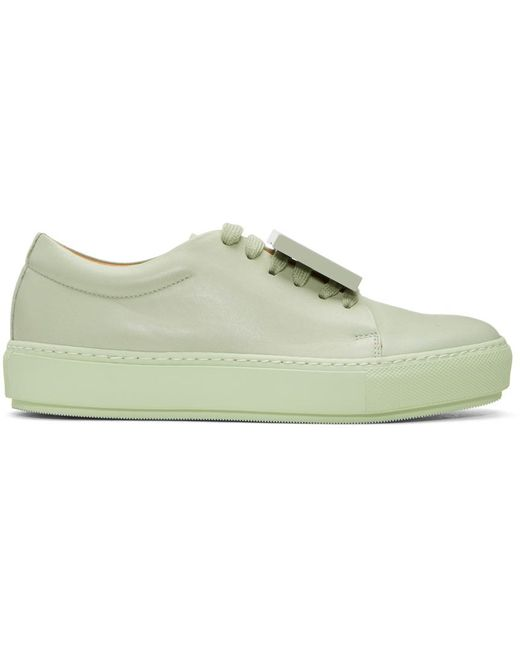 Acne | Green Adriana Turnup Sneakers | Lyst