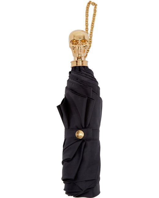 Alexander McQueen | Black Skull Compact Umbrella | Lyst