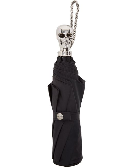 Alexander McQueen   Black Skull Compact Umbrella   Lyst