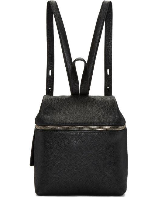 Kara | Black Leather Small Backpack | Lyst