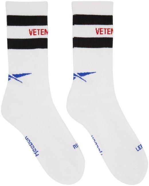 Vetements | White Reebok Edition Classic Socks for Men | Lyst