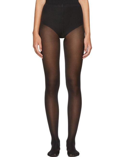Wolford | Black Velvet De Luxe 50 Tights | Lyst