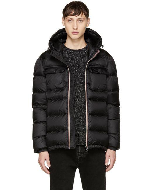 Moncler | Black Down Morane Jacket for Men | Lyst