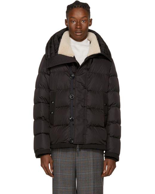 Moncler | Black Down Shearling Pyrenees Jacket for Men | Lyst