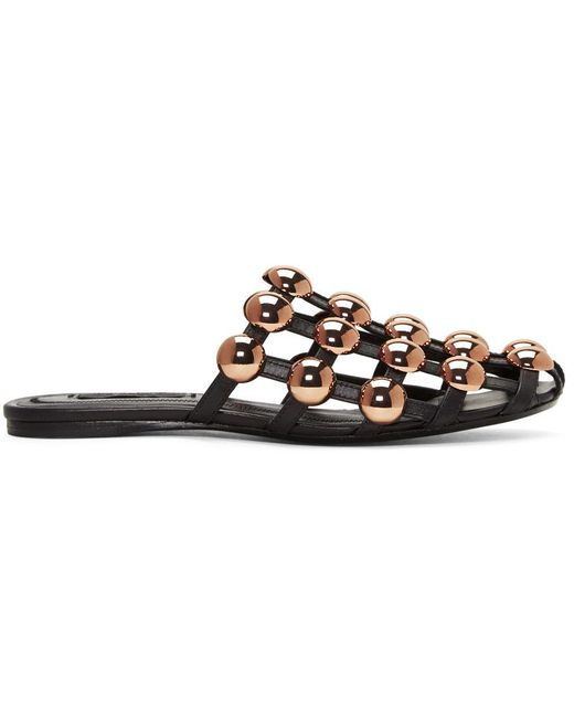 Alexander Wang | Black Amelia Cage Slippers | Lyst