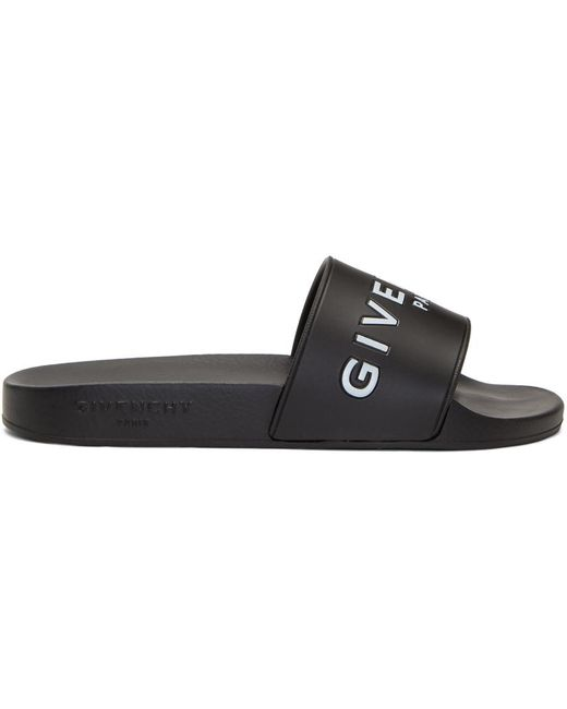 Givenchy | Black Logo Slides | Lyst