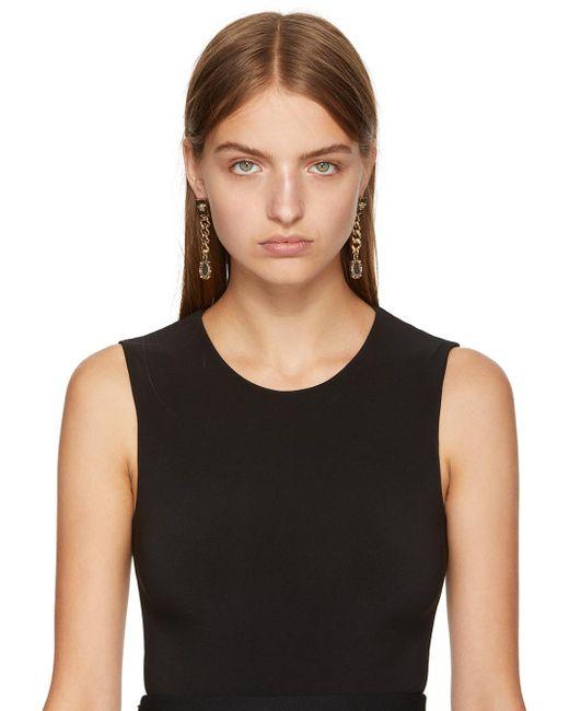 Versace | Metallic Gold Infinity Medallion Earrings | Lyst