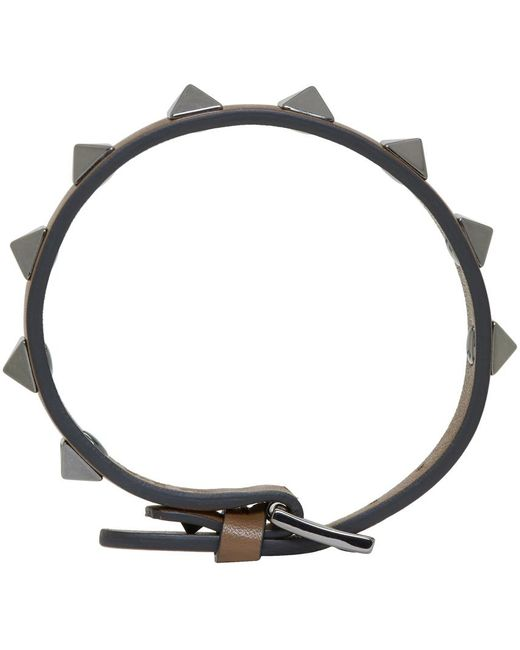Valentino | Brown Rockstud Bracelet for Men | Lyst