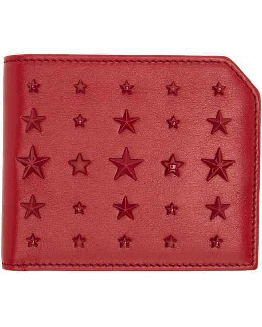 Jimmy Choo   Red Mixed Stars Albany Wallet for Men   Lyst