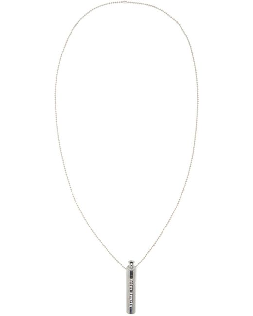 Palm Angels | Metallic Silver Pipe Necklace for Men | Lyst