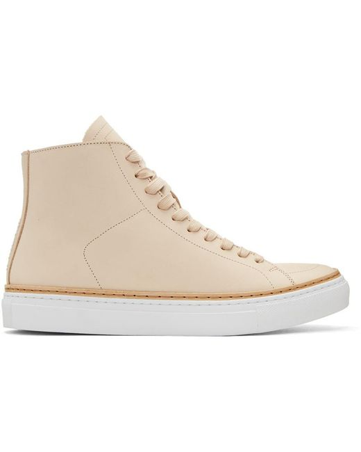 Number288 | Natural Beige Mulberry High-top Sneakers for Men | Lyst