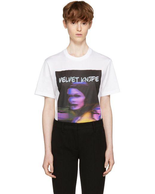 Prada   White 'velvet Knife' Poster T-shirt for Men   Lyst