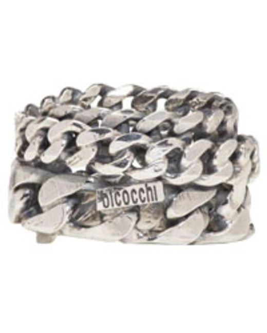 Emanuele Bicocchi | Metallic Silver Curb Chain Ring for Men | Lyst