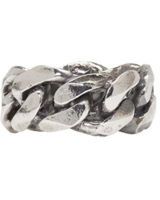Emanuele Bicocchi | Metallic Silver Chain Ring for Men | Lyst