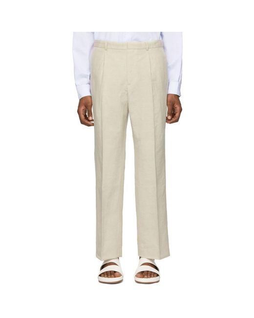 Jacquemus - Natural ベージュ Le Pantalon Yvan トラウザーズ for Men - Lyst