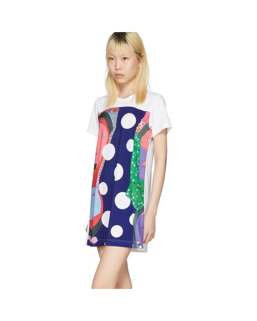 White Polka Dot Faces T-Shirt Dress Comme Des Garçons Buy Newest Cheap From China Yj4C7lp6S5