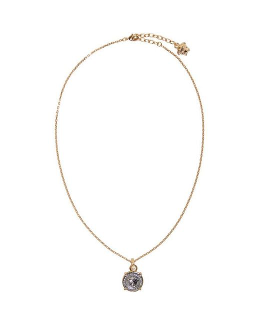 Versace | Metallic Gold & Silver Round Medusa Necklace for Men | Lyst