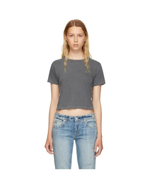 AMO - Black Grey Babe T-shirt - Lyst