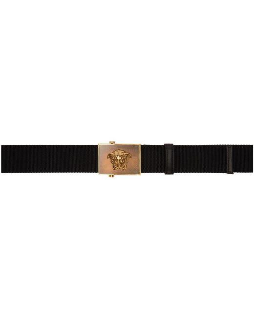 Versace - Black Ribbon Medusa Square Belt for Men - Lyst