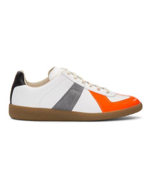 bbff2a9300c5 Maison Margiela - Multicolor White And Orange Replica Sneakers for Men -  Lyst ...
