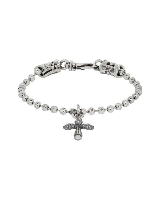 Emanuele Bicocchi - Metallic Silver Cross Disco Chain Bracelet for Men - Lyst