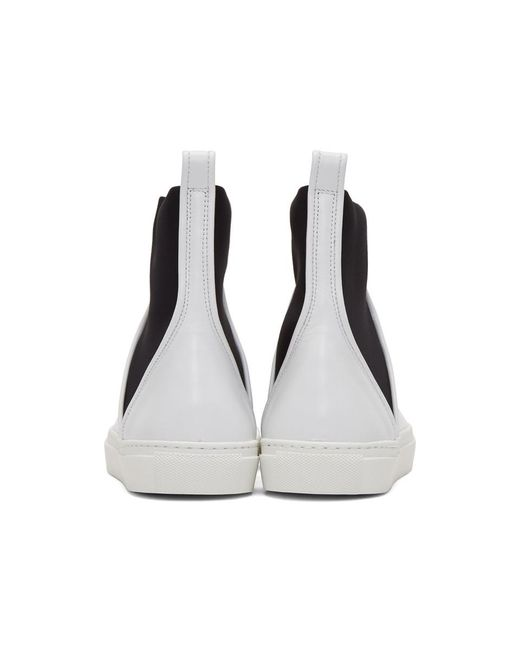 Cédric Charlier White Pull-On High-Top Sneakers BpebT3