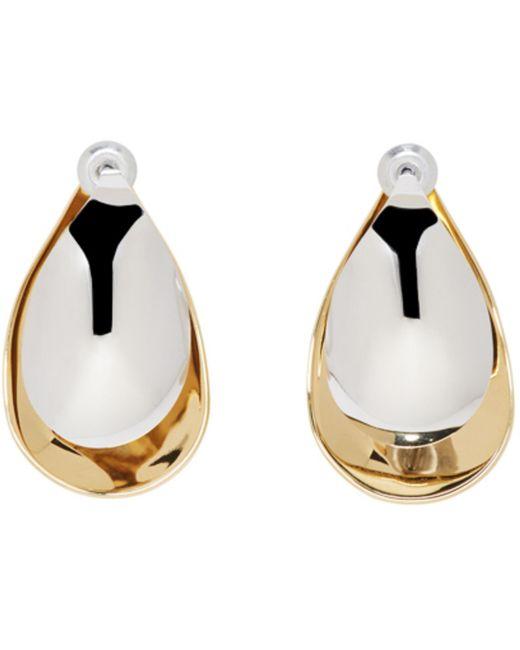 Charlotte Chesnais | Metallic Gold And Silver Mini Petal Earrings | Lyst