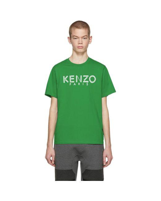 KENZO - Green Classic Logo T-shirt for Men - Lyst