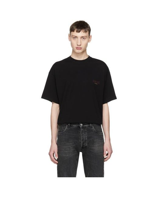 Balenciaga Black Oversized Sinners T Shirt In Black For