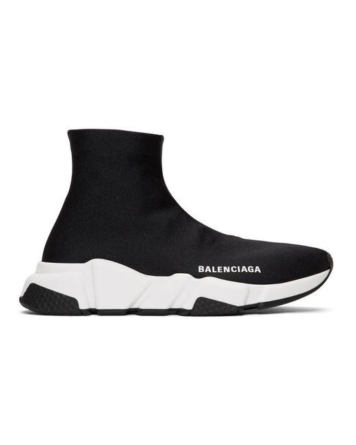 Balenciaga - Black Bonded Speed Sneakers - Lyst