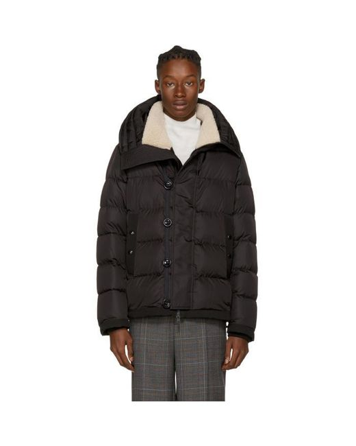 Moncler | Black Down Shearling Pyrenees Jacket for Men | Lyst