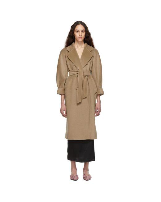 Max Mara Natural Tan Madame Coat