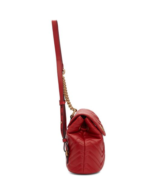 869caa9e7783 ... Gucci - Red Mini GG Marmont 2.0 Backpack - Lyst ...