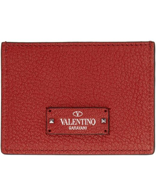Valentino | Red Garavani Logo Patch Card Holder | Lyst
