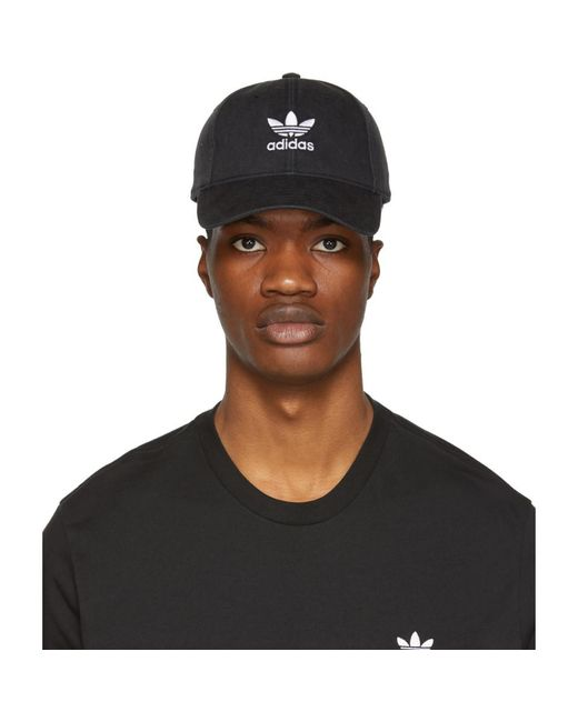 07c0906fe956c Lyst - adidas Originals Black Trefoil Cap in Black for Men