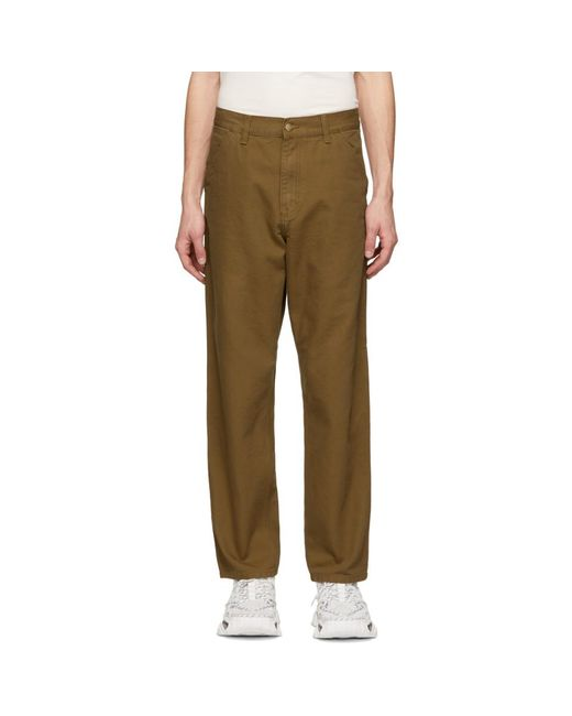 26584f6c2b9 Carhartt WIP Brown Single Knee Trousers in Brown for Men - Lyst