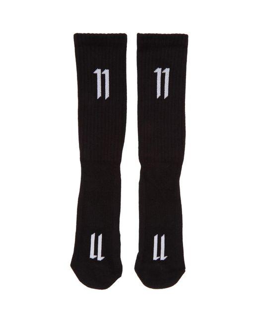 Boris Bidjan Saberi 11 - Three-pack Black Ribbed Logo Socks for Men - Lyst