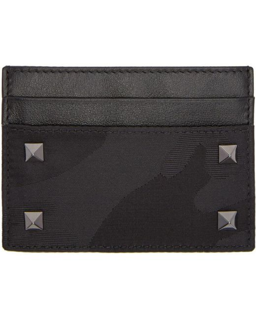 Valentino | Black Camo Rockstud Card Holder for Men | Lyst