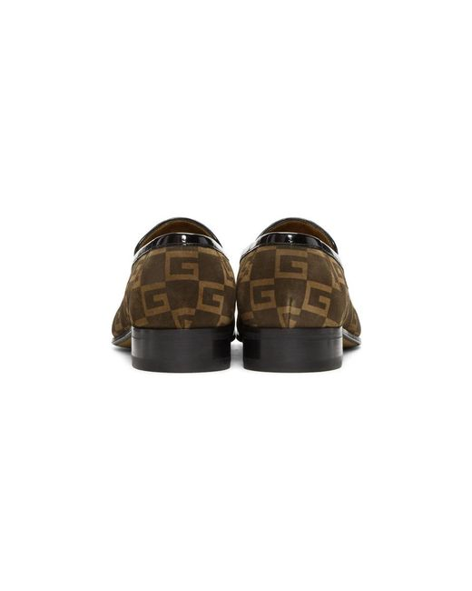 08e9b68ab95 ... Gucci - Brown Suede GG Fox Loafers for Men - Lyst ...