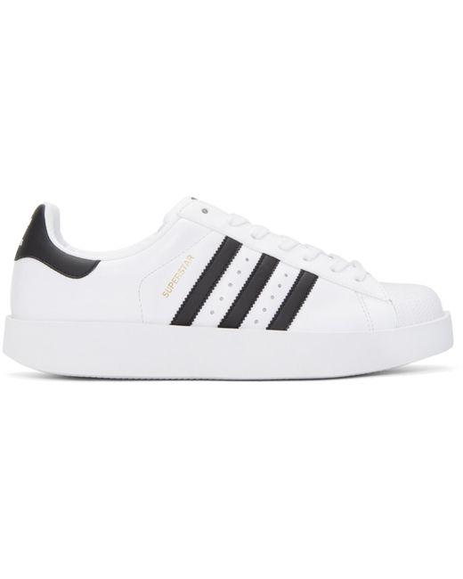 Adidas Originals | White & Black Superstar Bold Sneakers | Lyst