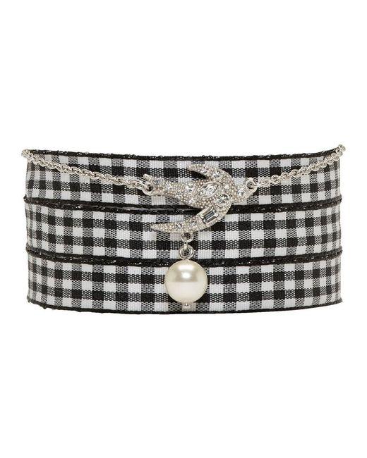Miu Miu - Metallic Silver Swallow Pearl Charm Bracelet - Lyst