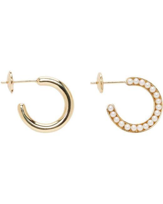Melanie Georgacopoulos   Metallic Gold Essence Hoop Earrings   Lyst