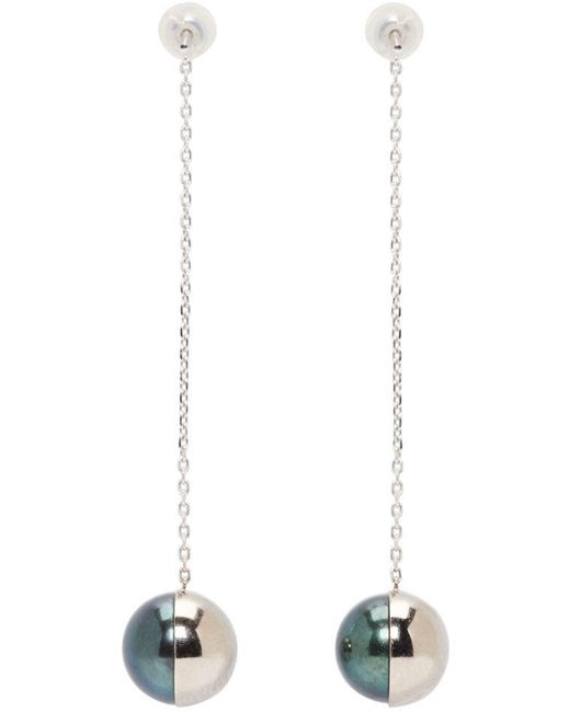 Melanie Georgacopoulos | White Gold Arlequin Tasaki Edition Pendant Earrings | Lyst
