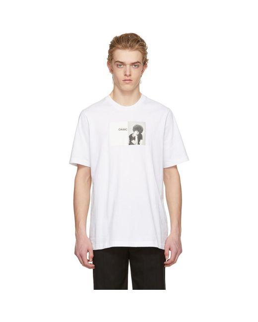 OAMC - White Angela Davis T-shirt for Men - Lyst