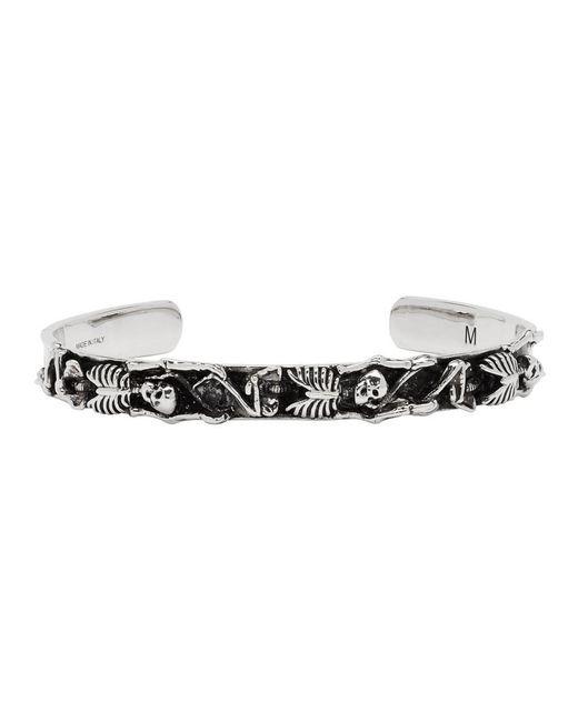 Alexander McQueen - Metallic Silver Dancing Skeleton Bracelet for Men - Lyst