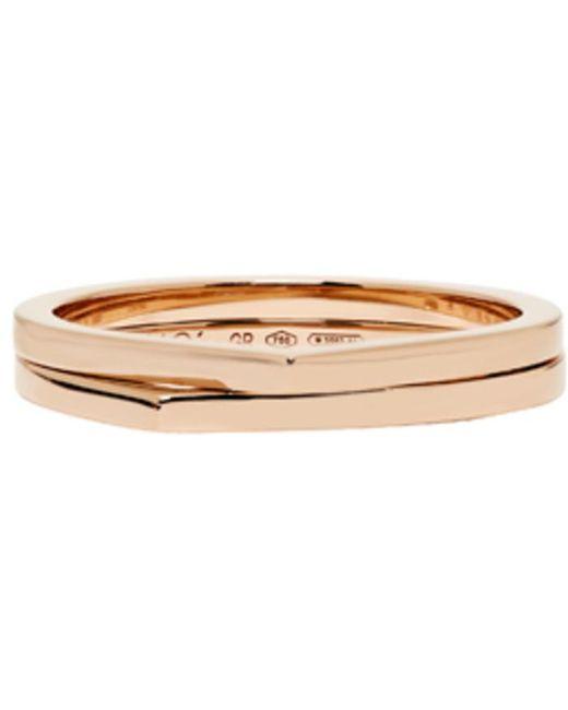 Repossi | Multicolor Rose Gold 2 Rows Antifer Phalanx Ring | Lyst