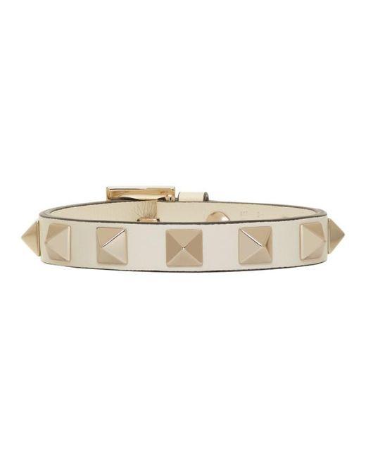 Valentino | White Garavani Rockstud Bracelet | Lyst