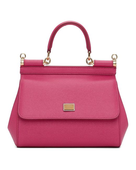 cbb63759e856 Lyst - Dolce   Gabbana Pink Small Miss Sicily Bag in Pink